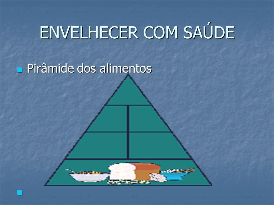ENVELHECER COM SAÚDE Pirâmide dos alimentos
