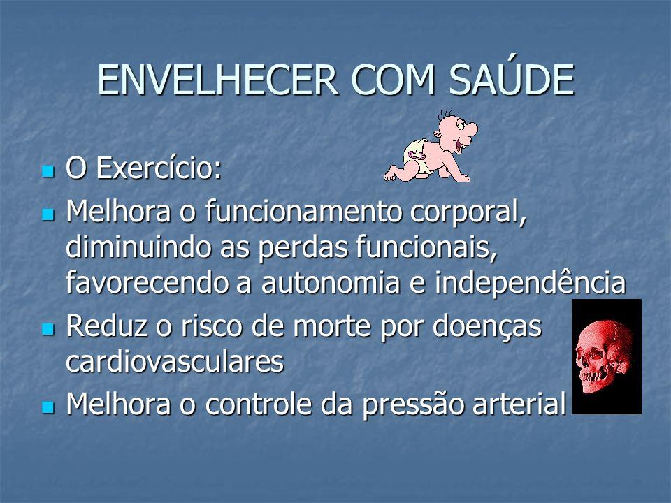 ENVELHECER COM SAÚDE O Exercício: