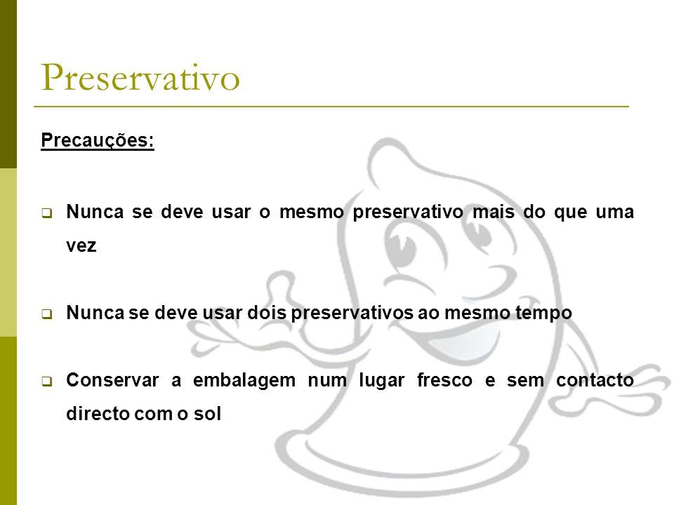 Preservativo Precauções:
