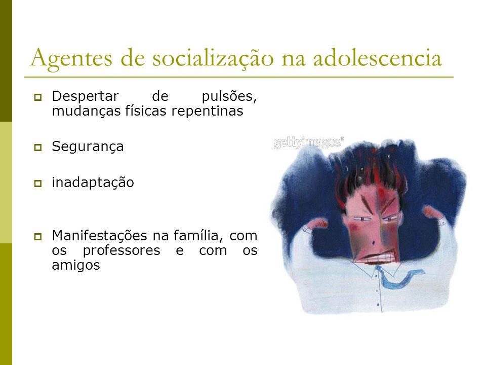 Agentes de socialização na adolescencia
