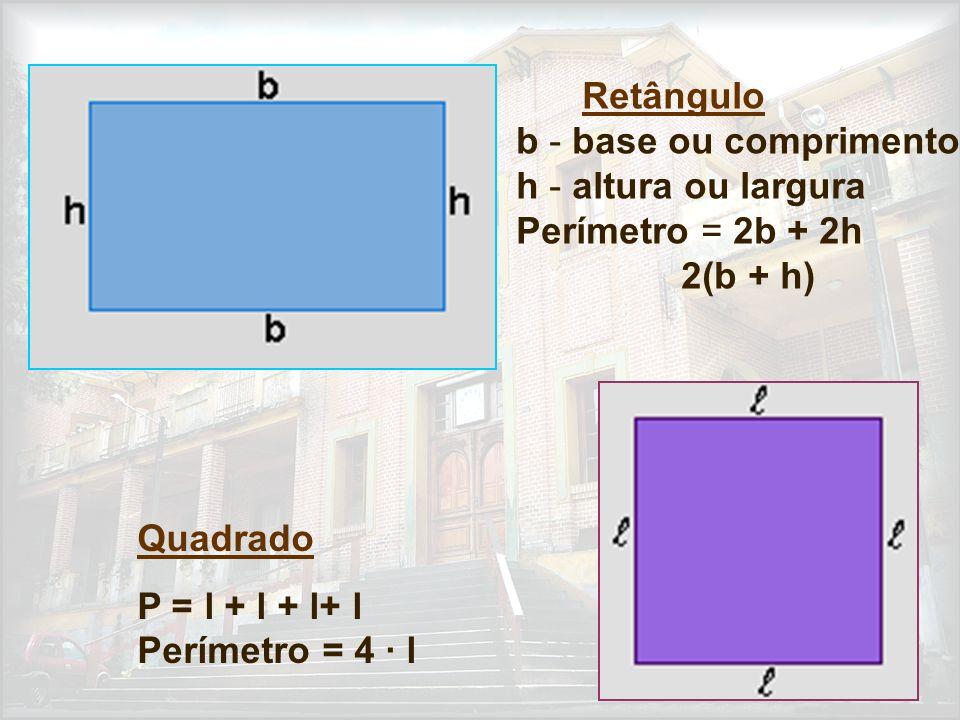 P = l + l + l+ l Perímetro = 4 · l