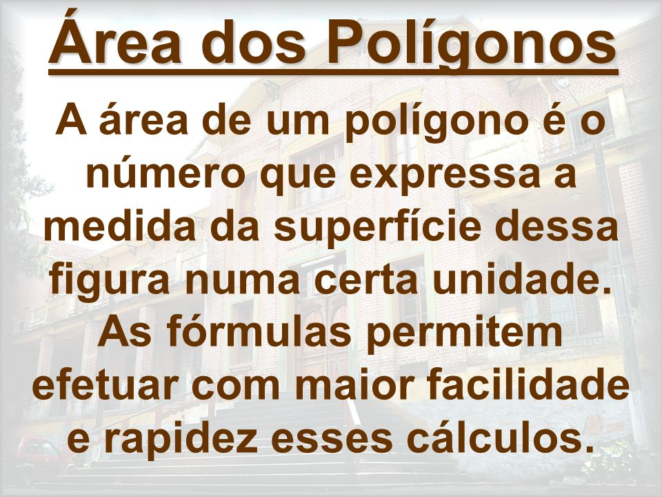 Área dos Polígonos