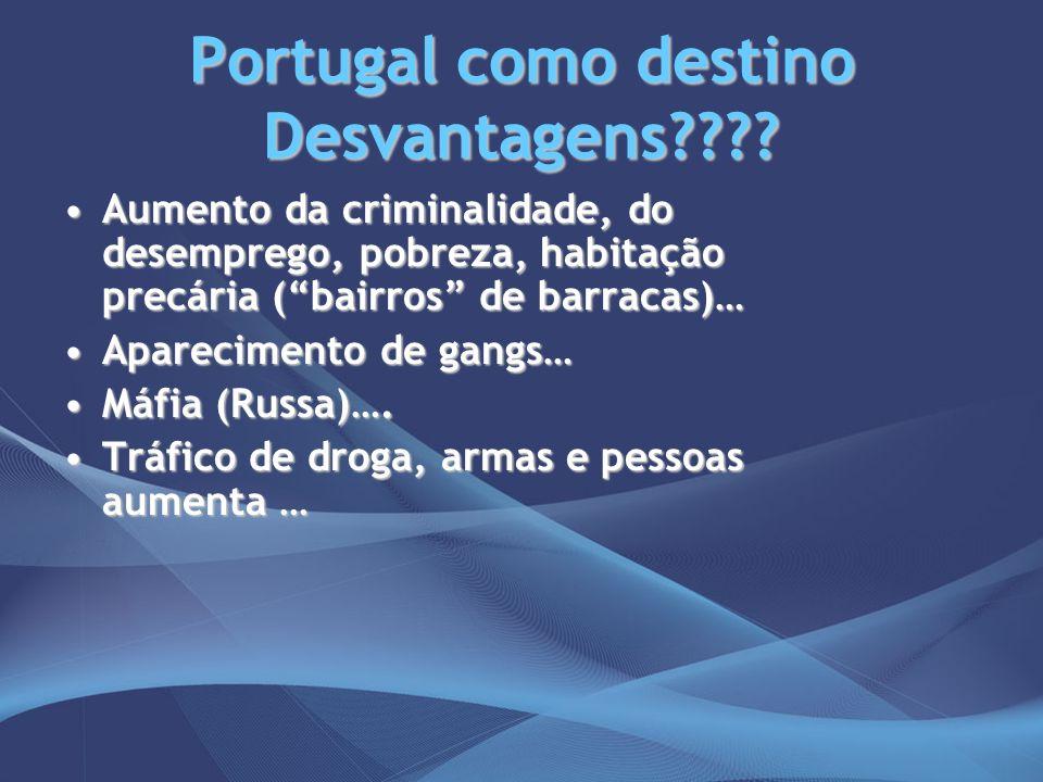 Portugal como destino Desvantagens