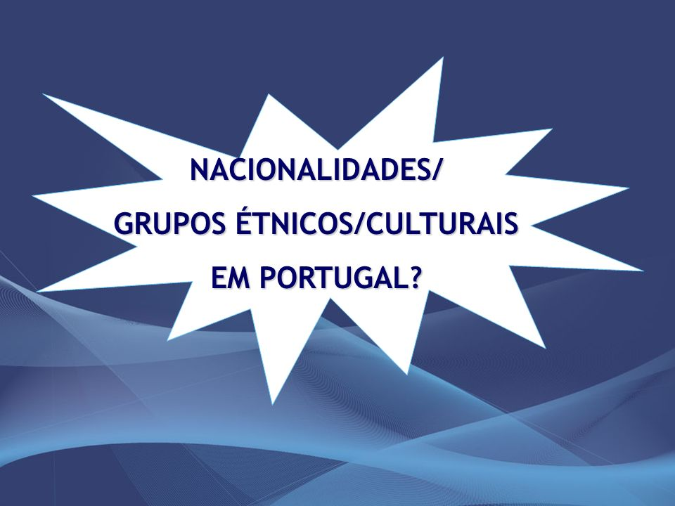GRUPOS ÉTNICOS/CULTURAIS
