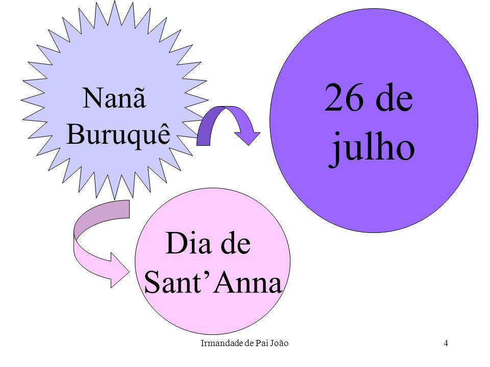 Nanã Buruquê 26 de julho Dia de Sant'Anna Irmandade de Pai João