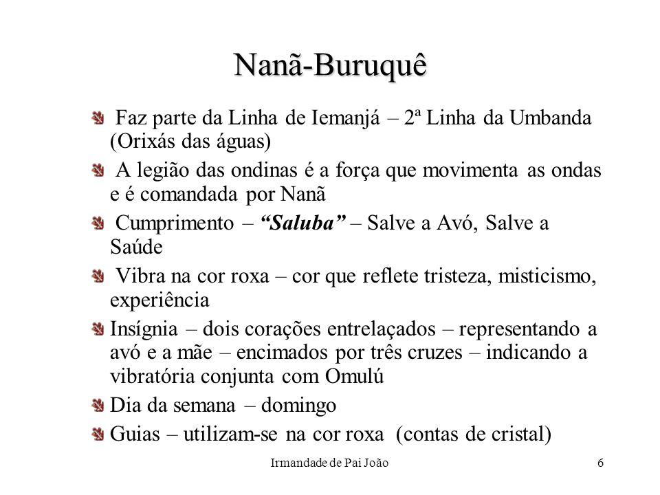 Nanã-Buruquê Faz parte da Linha de Iemanjá – 2ª Linha da Umbanda (Orixás das águas)