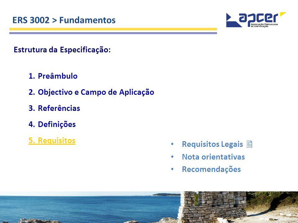ERS 3002 > Fundamentos Estrutura da Especificação: 1. Preâmbulo