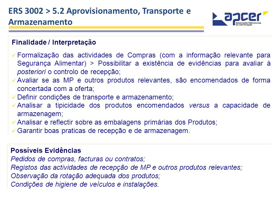 ERS 3002 > 5.2 Aprovisionamento, Transporte e Armazenamento