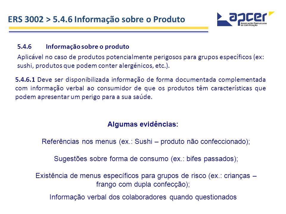 ERS 3002 > 5.4.6 Informação sobre o Produto