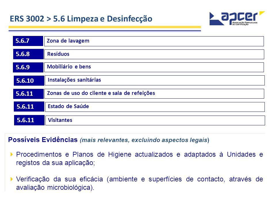 ERS 3002 > 5.6 Limpeza e Desinfecção