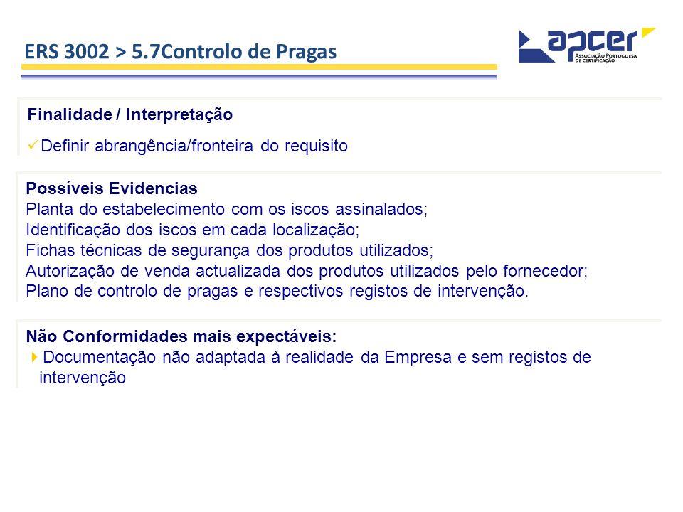 ERS 3002 > 5.7Controlo de Pragas