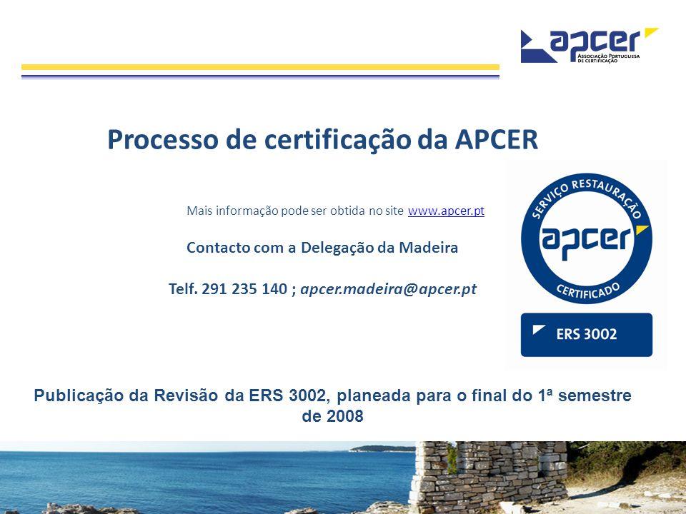 Processo de certificação da APCER