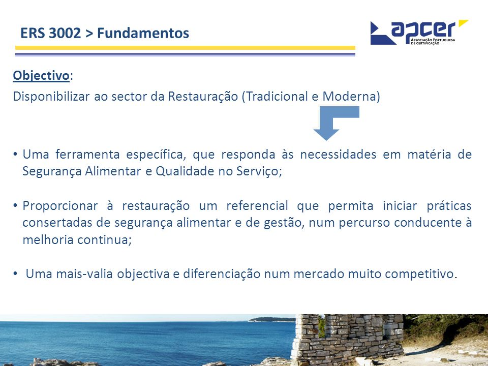 ERS 3002 > Fundamentos Objectivo: