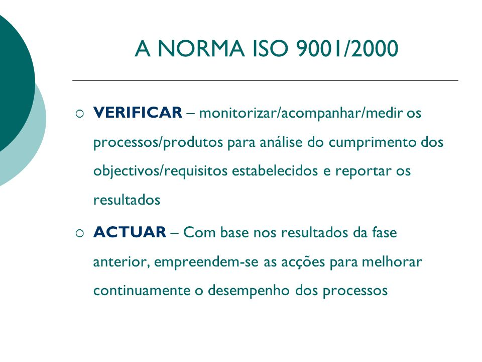 A NORMA ISO 9001/2000