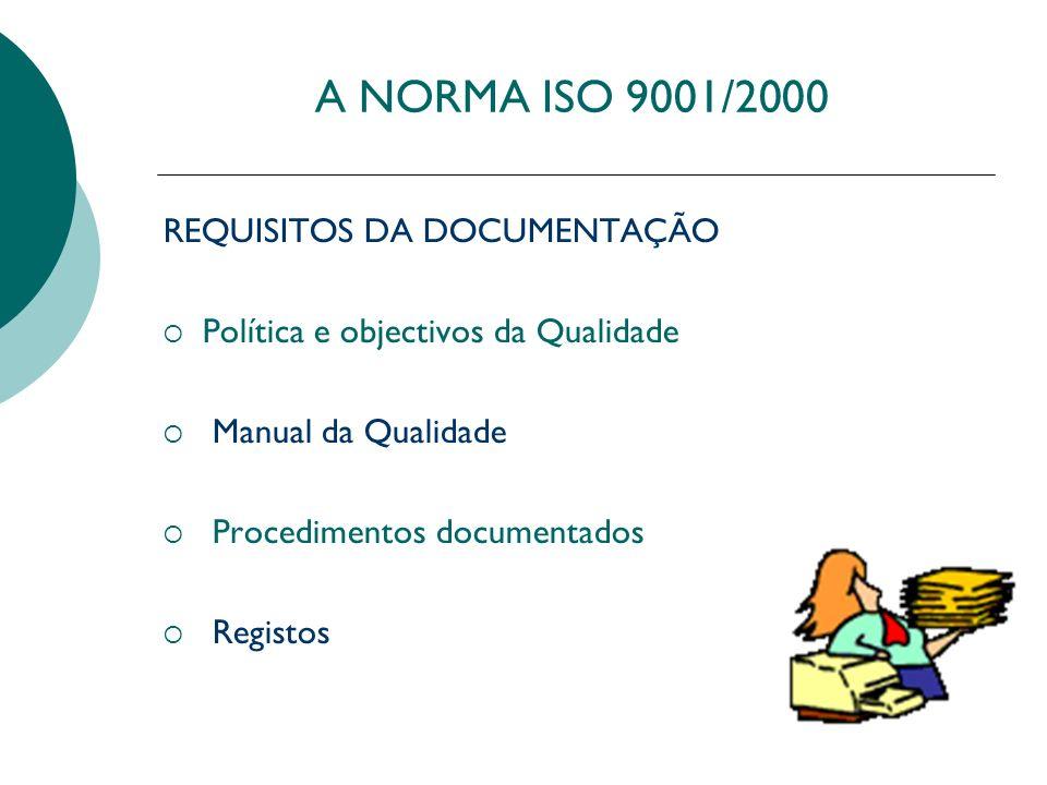 A NORMA ISO 9001/2000 REQUISITOS DA DOCUMENTAÇÃO
