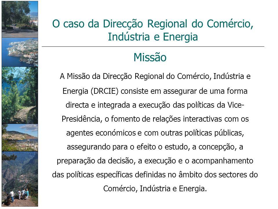 O caso da Direcção Regional do Comércio, Indústria e Energia