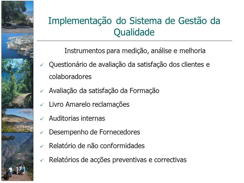 Implementação do Sistema de Gestão da Qualidade