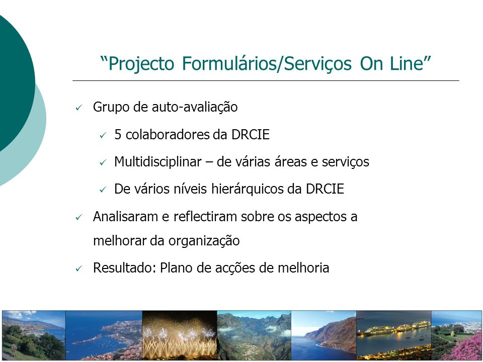 Projecto Formulários/Serviços On Line