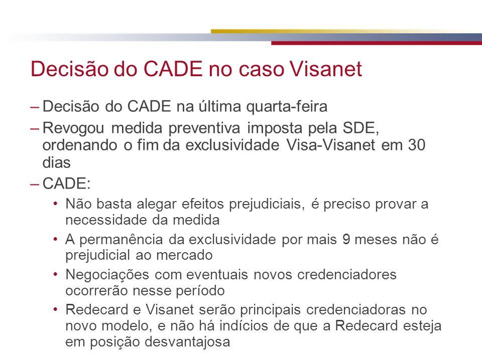 Decisão do CADE no caso Visanet
