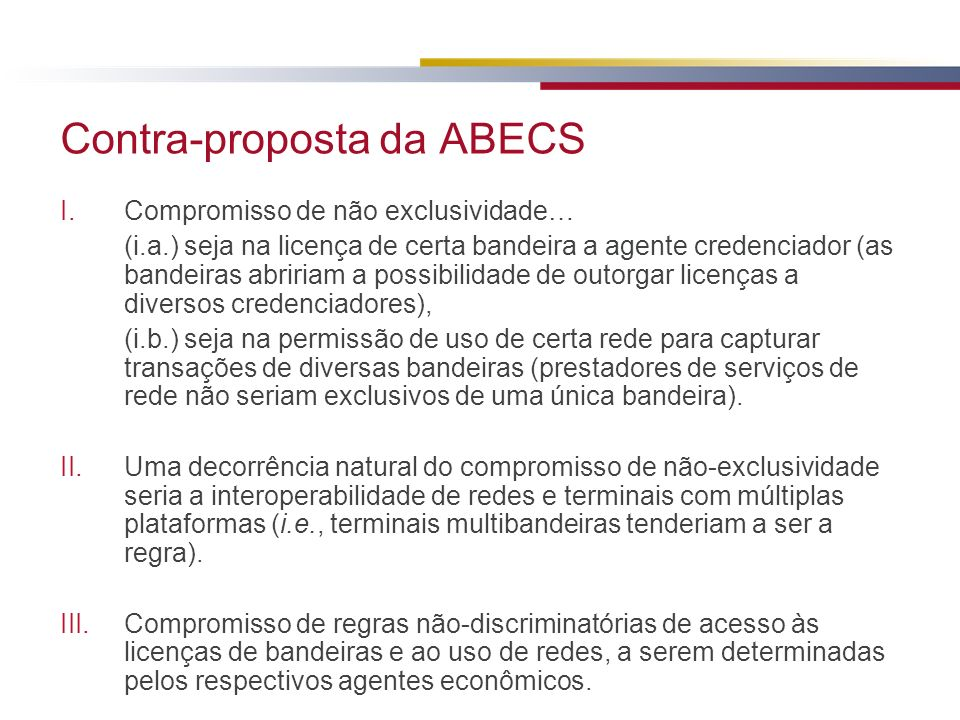 Contra-proposta da ABECS