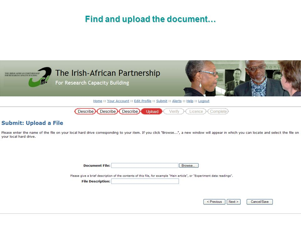 Find and upload the document…