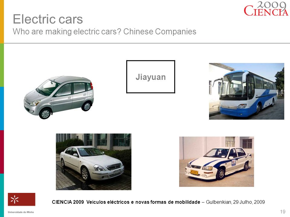 Electric cars Who are making electric cars Chinese Companies