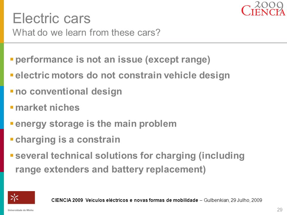 Electric cars What do we learn from these cars