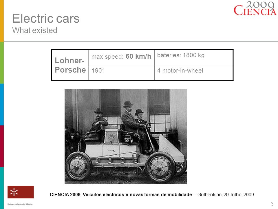 Electric cars What existed