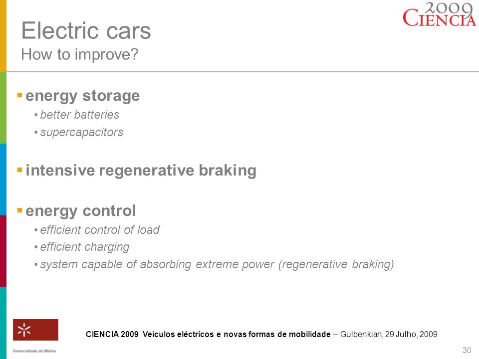 Electric cars How to improve