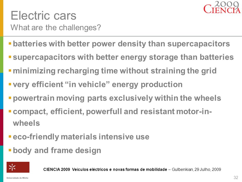 Electric cars What are the challenges