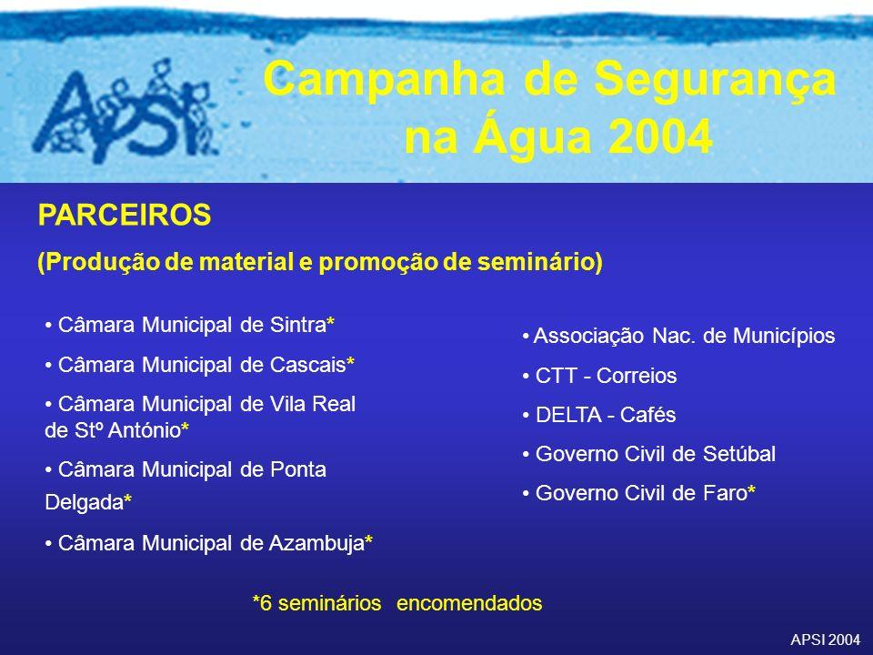 PARCEIROS (Produção de material e promoção de seminário)