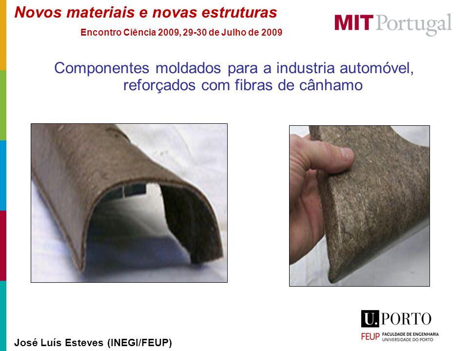 Componentes moldados para a industria automóvel, reforçados com fibras de cânhamo