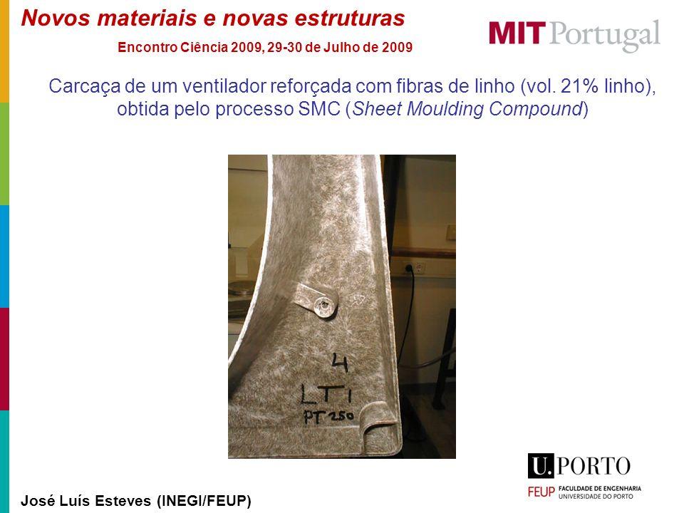 Carcaça de um ventilador reforçada com fibras de linho (vol