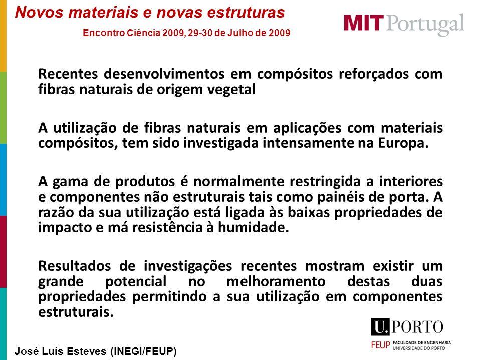 Recentes desenvolvimentos em compósitos reforçados com fibras naturais de origem vegetal