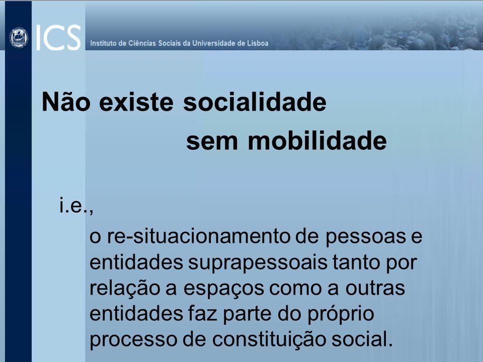 Não existe socialidade sem mobilidade