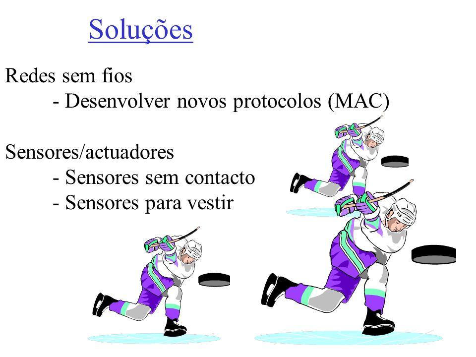 Soluções Redes sem fios - Desenvolver novos protocolos (MAC)