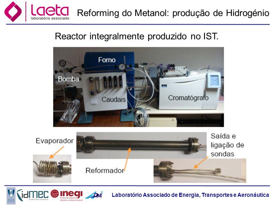 Reforming do Metanol: produção de Hidrogénio