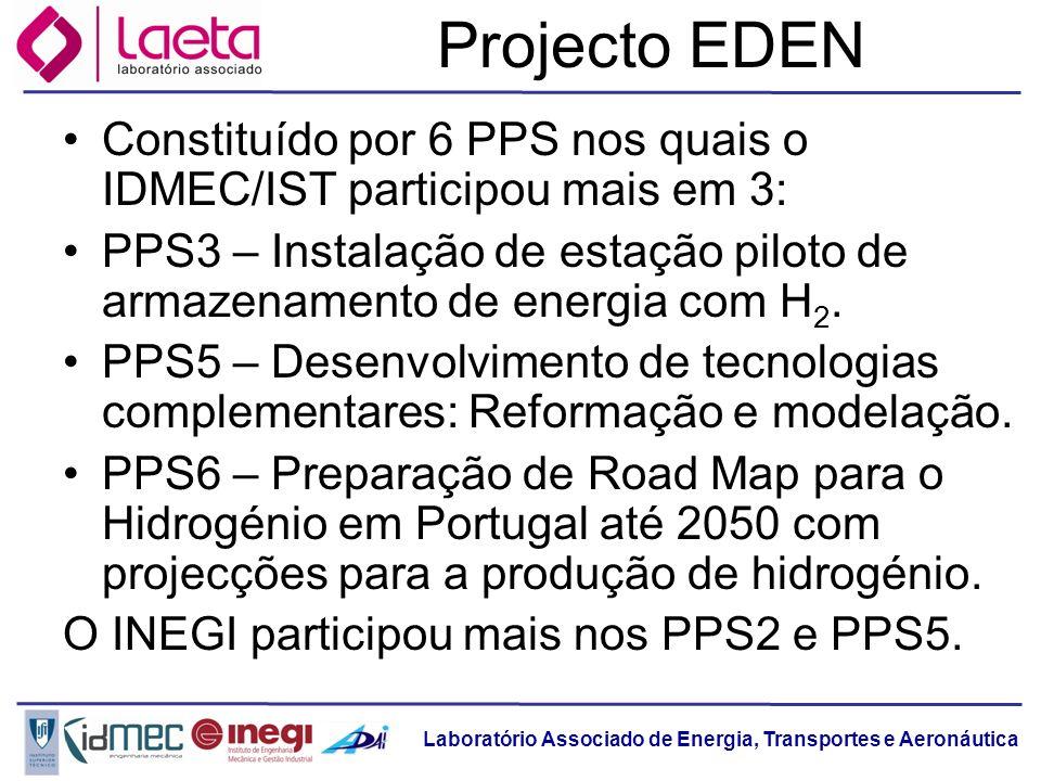 Projecto EDENConstituído por 6 PPS nos quais o IDMEC/IST participou mais em 3: