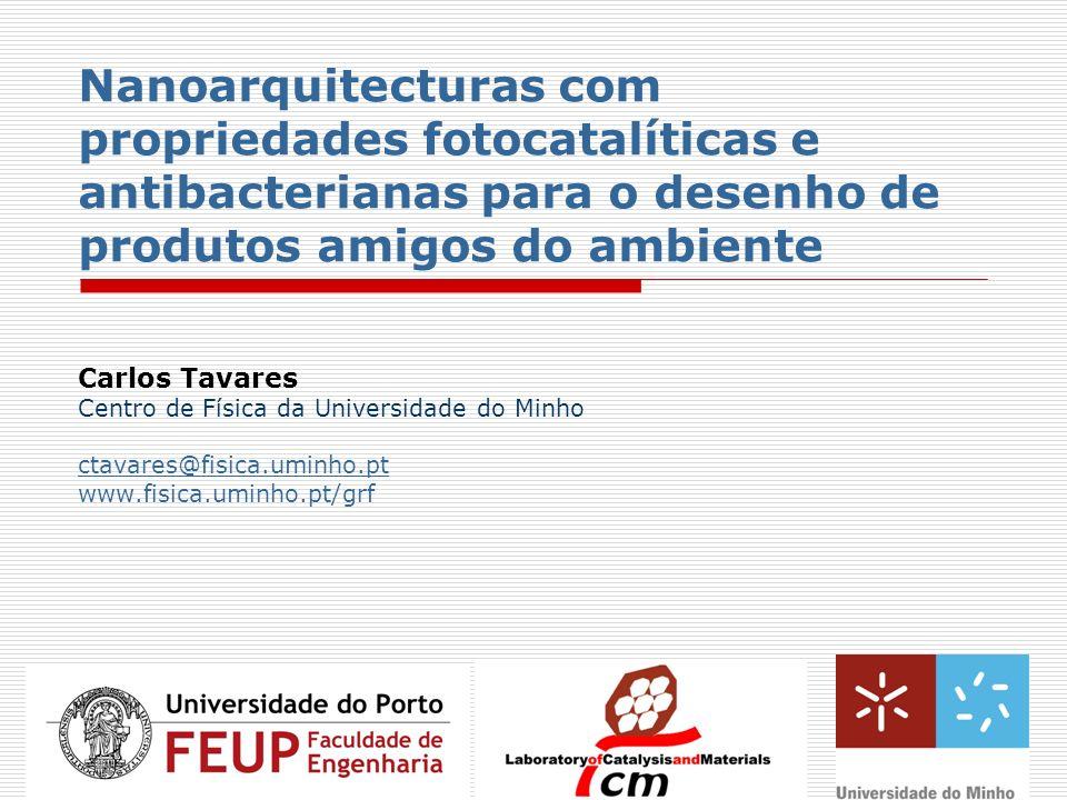 Nanoarquitecturas com propriedades fotocatalíticas e antibacterianas para o desenho de produtos amigos do ambiente