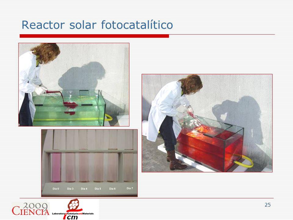 Reactor solar fotocatalítico