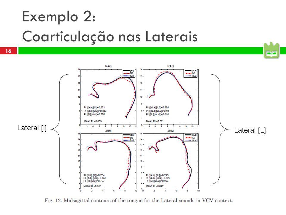 Exemplo 2: Coarticulação nas Laterais