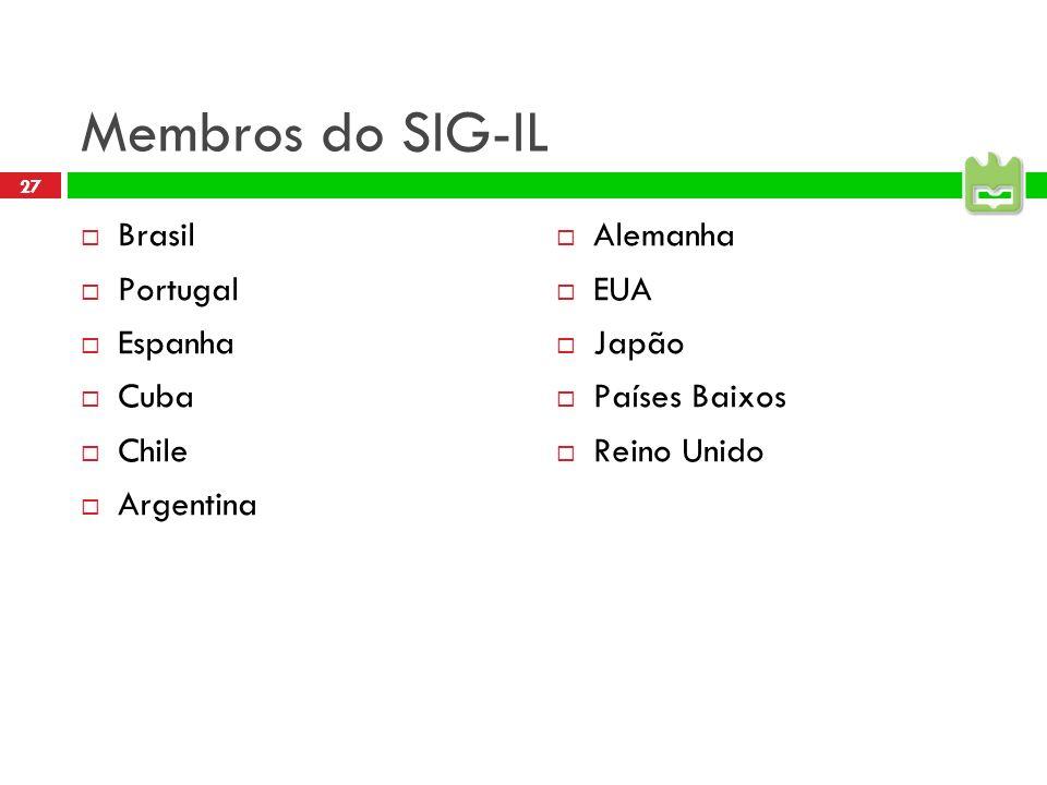 Membros do SIG-IL Brasil Portugal Espanha Cuba Chile Argentina