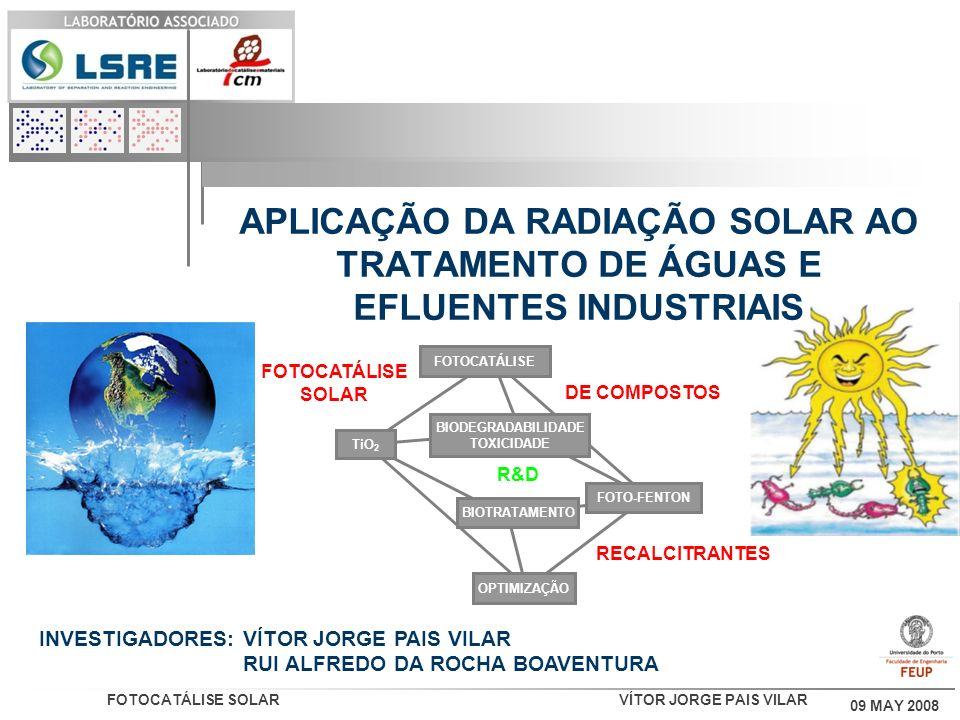 APLICAÇÃO DA RADIAÇÃO SOLAR AO TRATAMENTO DE ÁGUAS E EFLUENTES INDUSTRIAIS
