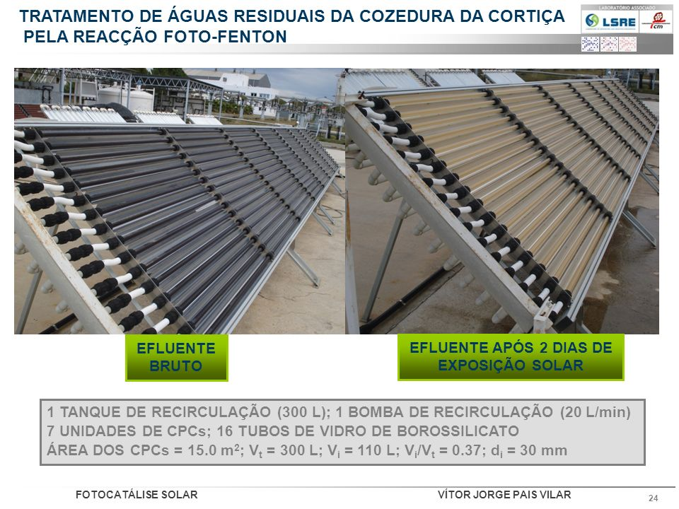 EFLUENTE APÓS 2 DIAS DE EXPOSIÇÃO SOLAR