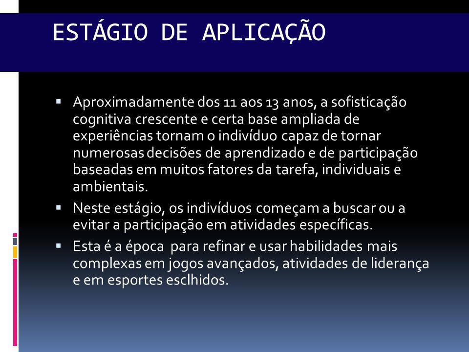 ESTÁGIO DE APLICAÇÃO