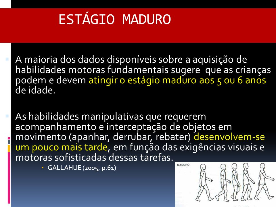 ESTÁGIO MADURO