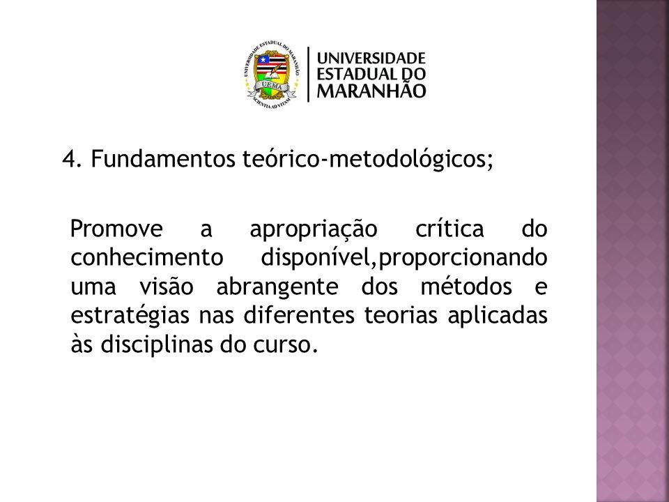 4. Fundamentos teórico-metodológicos;