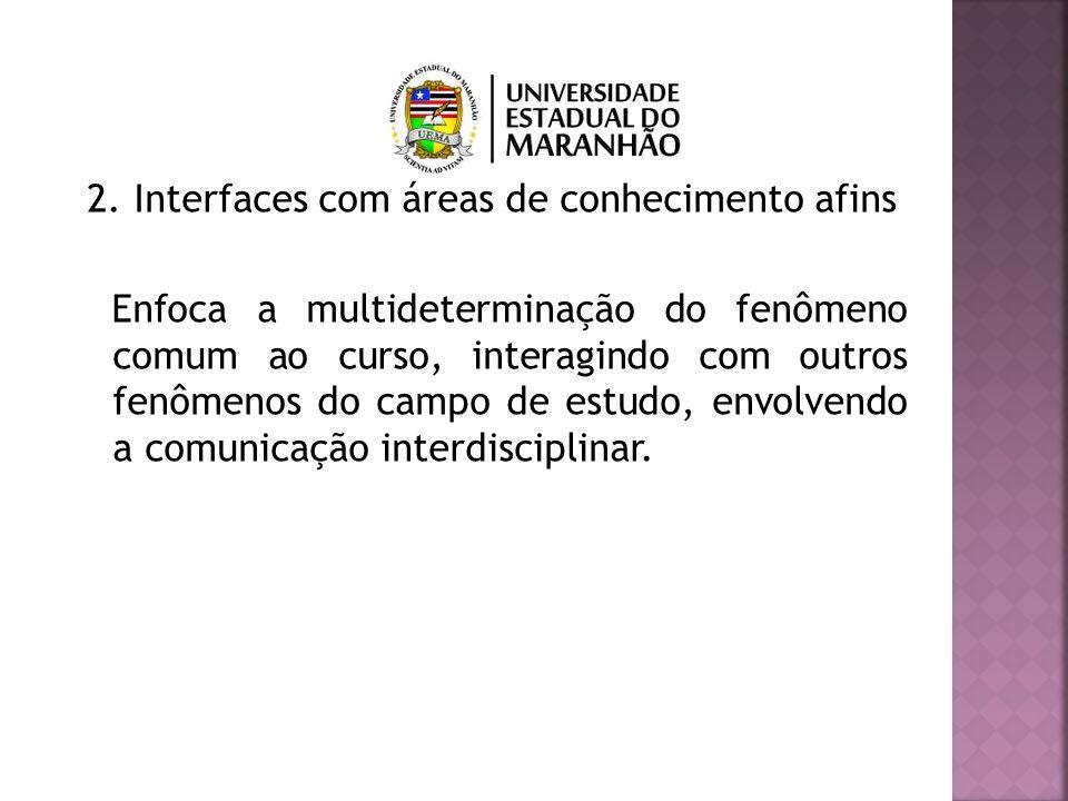 2. Interfaces com áreas de conhecimento afins
