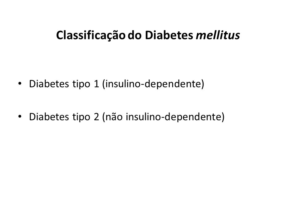 Classificação do Diabetes mellitus