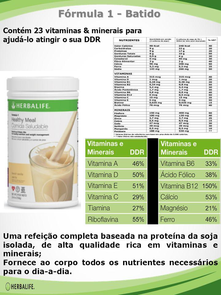 Fórmula 1 - Batido Contém 23 vitaminas & minerais para